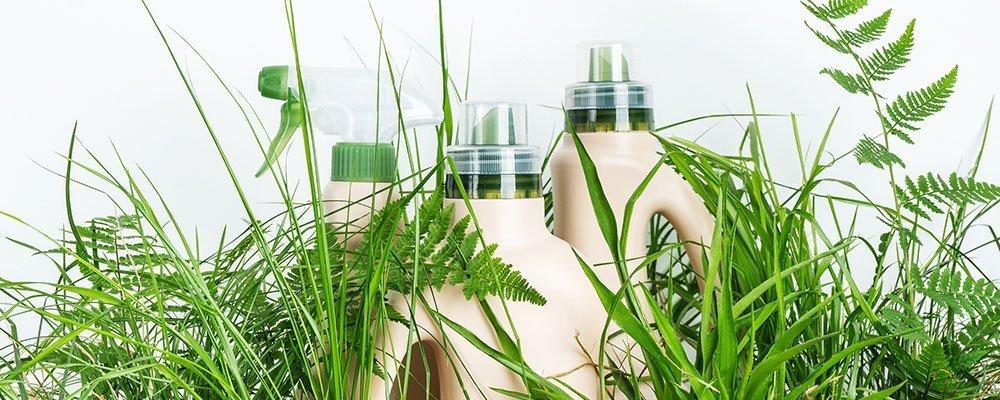 Reinigungsmittel mit verschiedenen Pflanzen